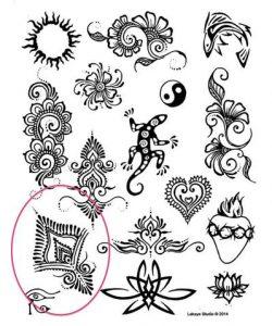 Henna Premium Kit stencil
