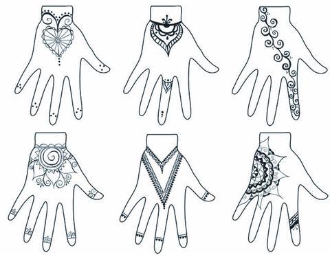 White henna tattoo designs
