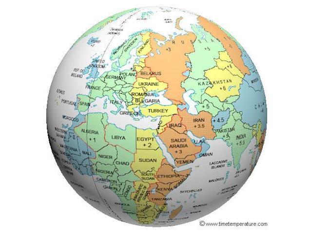 World Globe - Europe & Middle East