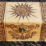 henna decorated wood box