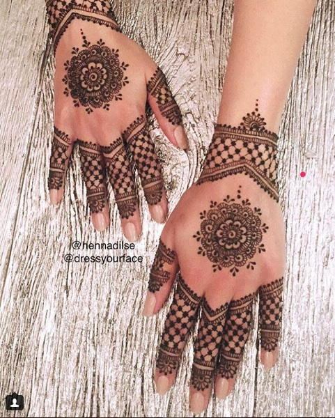 Henna Tattoos on Hands