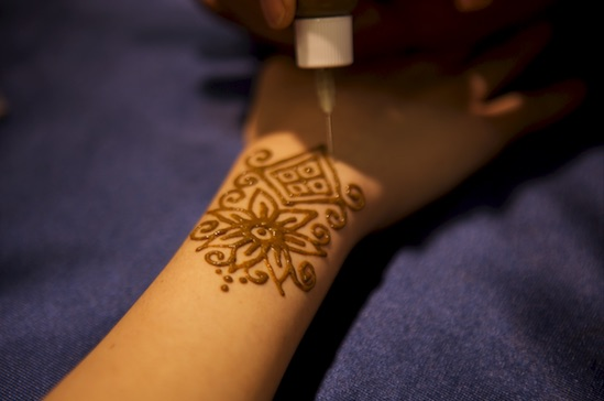 applying henna tattoos is magic