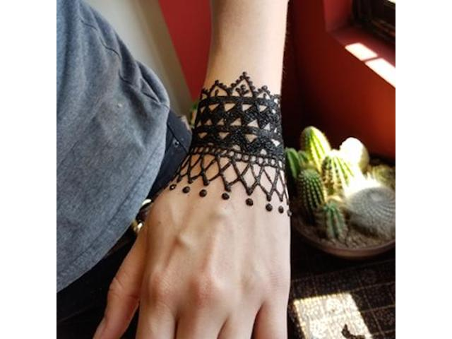 Black glitter tattoo