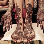 Mehndi tattoos on hands and feet